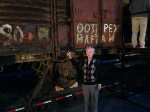 70 years later, Ben with the death train